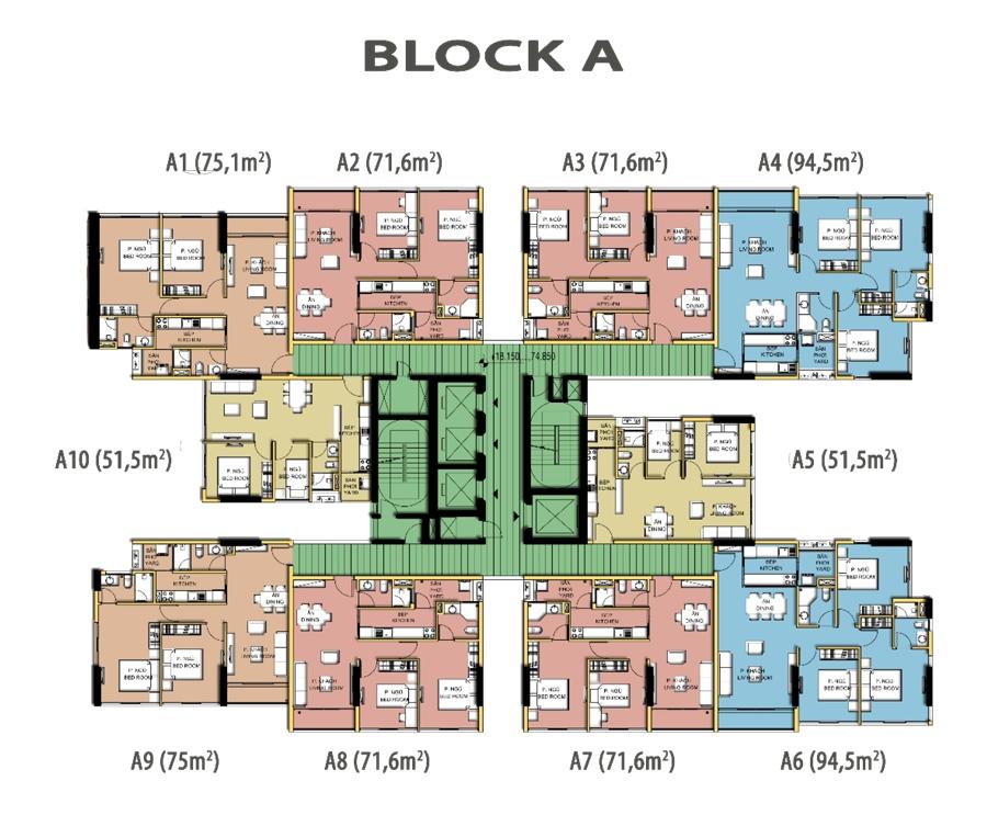 mat bang tang block A Dragon Hill