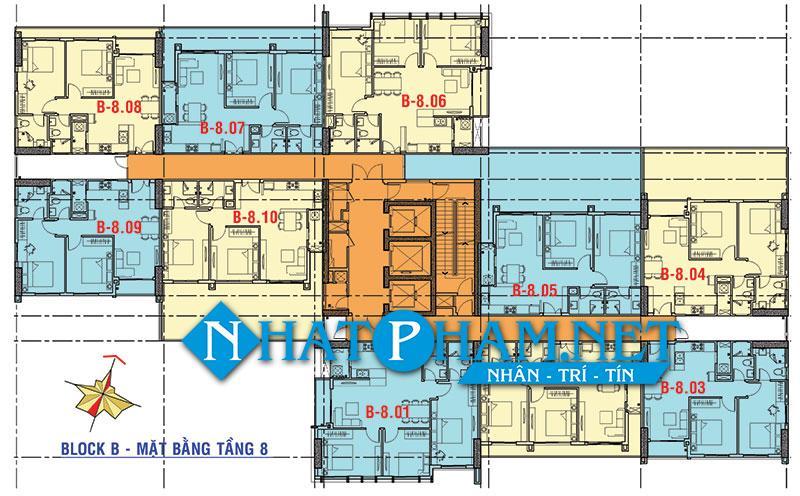 mat bang tang block b