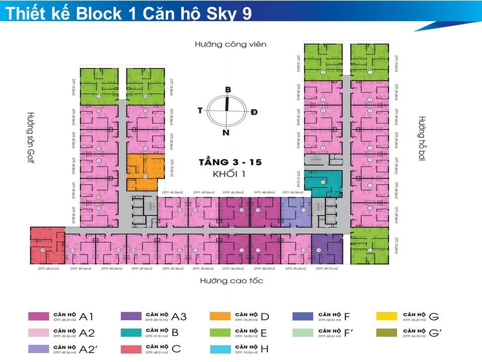 mat bang can ho sky 9 block 1