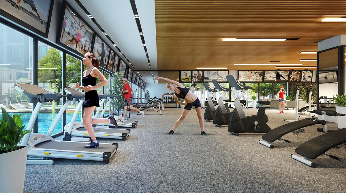 phong gym can ho hado centrosa garden