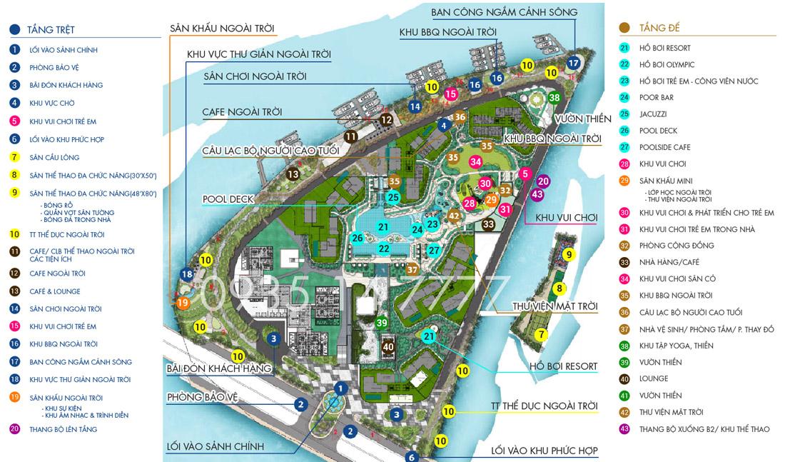 Tiện ích thực tế dự án căn hộ Đảo Kim Cương GĐ1