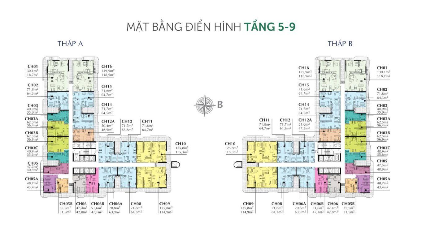 mat bang tang officetel sunshine horizon
